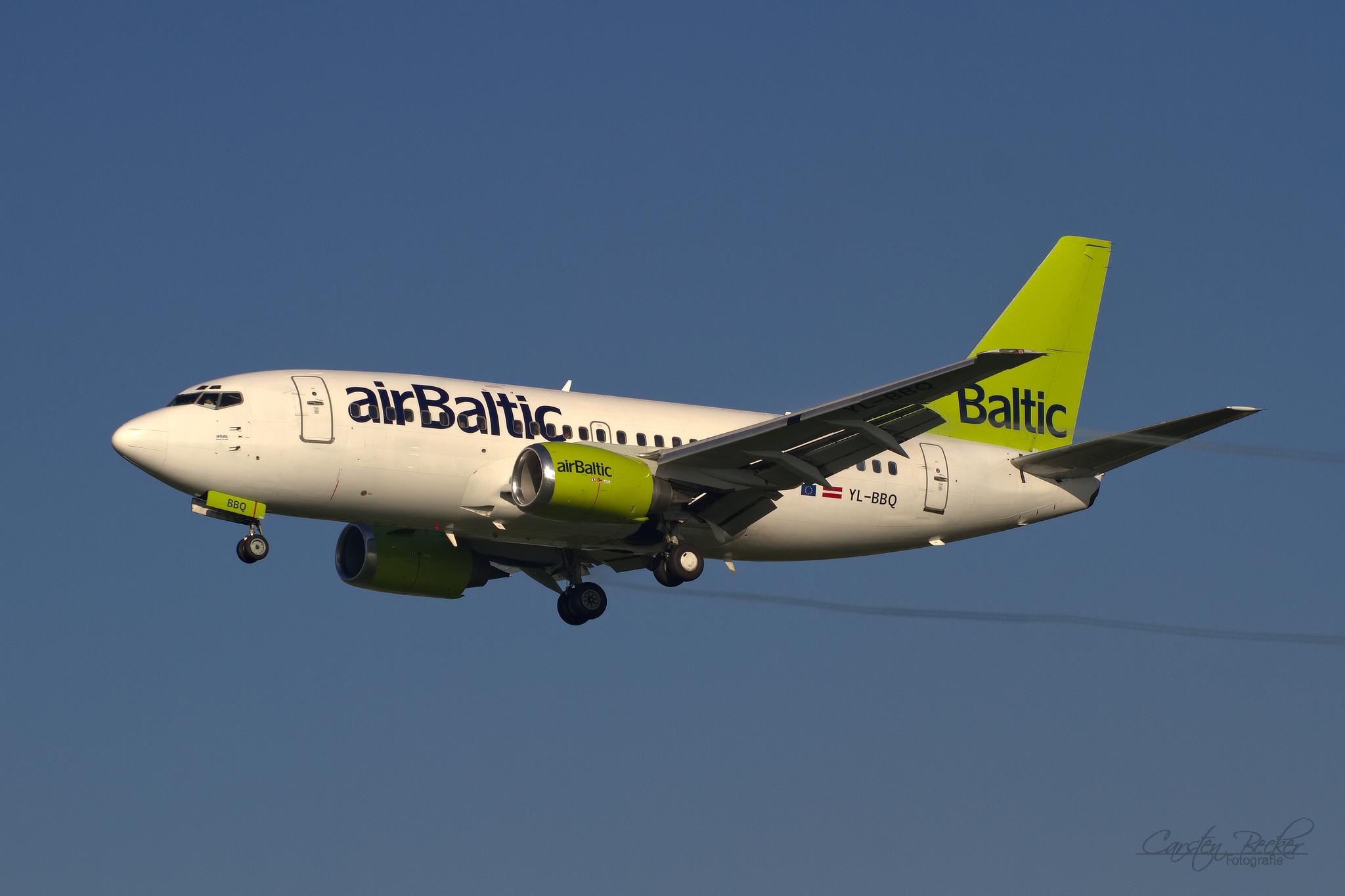 AirBaltic B737 YL-BBQ