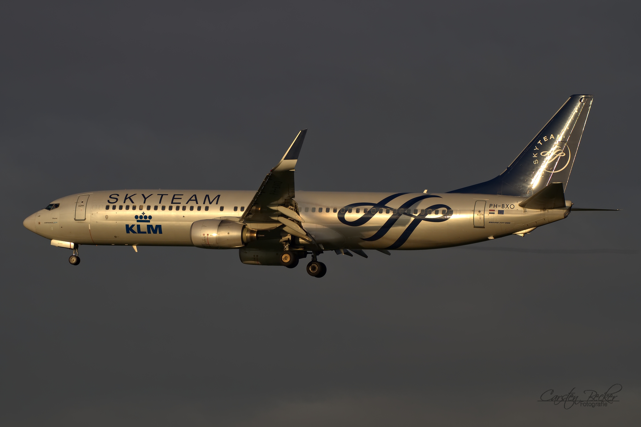 KLM B737 PH-BXO Skyteam